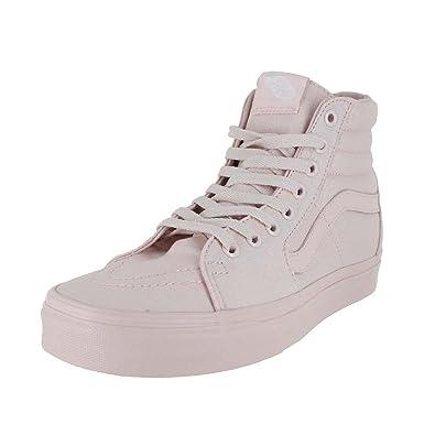 Vans Men s U Sk8 Hi Mono Canvas Shoes Peach Blush 9.5 M US Women   8 ... 56b6431b8d54