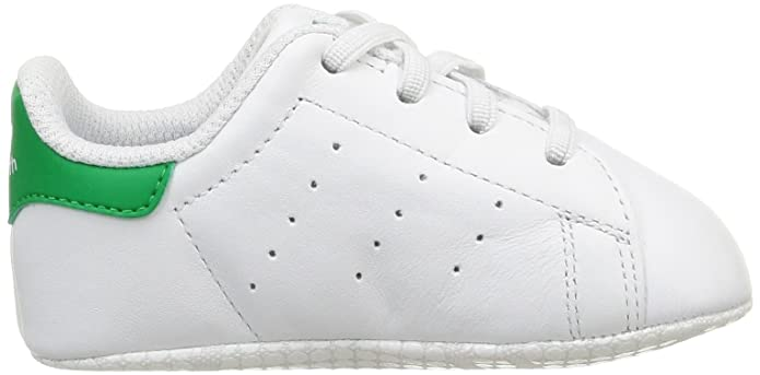 Amazon.com   adidas Originals Stan Smith Crib White/Green Leather Baby Soft Soles Shoes   Shoes