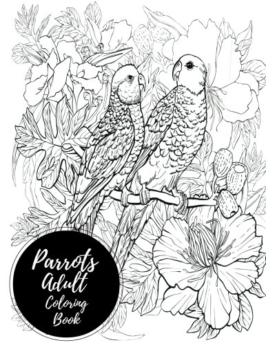 Parrots Adult Coloring Book Relaxation product image