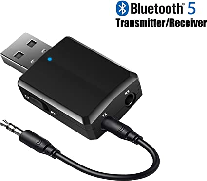 Bluetooth Transmitter V5.0 EDR 3.5mm Jack Audio Music Stereo Transmiter Adapter