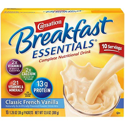 Carnation Breakfast Essentials Instant Breakfast Classic French Vanilla 10ct 2 pack by Carnation Breakfast Essentials