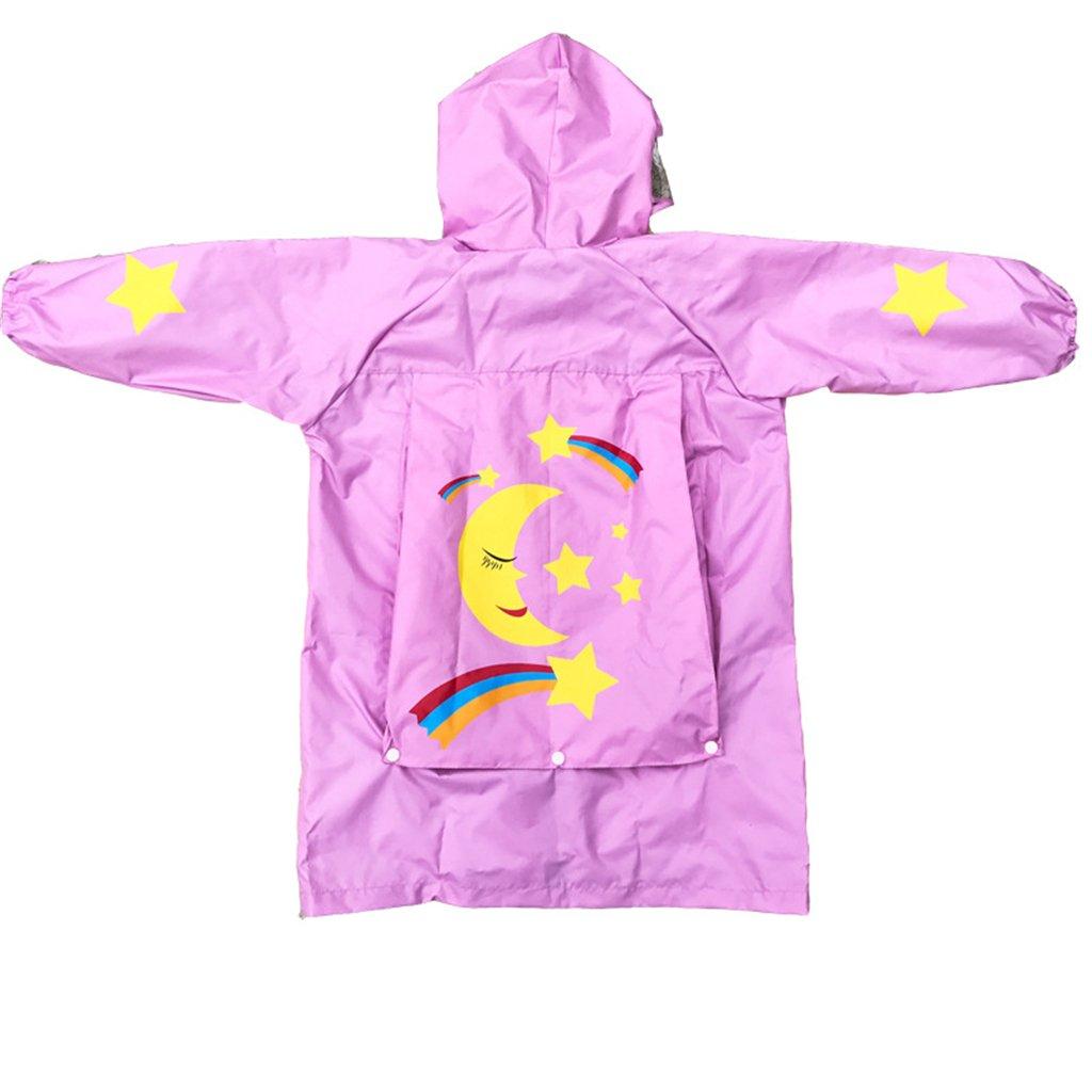 Bambini Pioggia Cappotto Unisex Impermeabile Coprizaino Poncho Giacca da Pioggia con cappuccio e Protegge lo Zaino 2-4 Anni