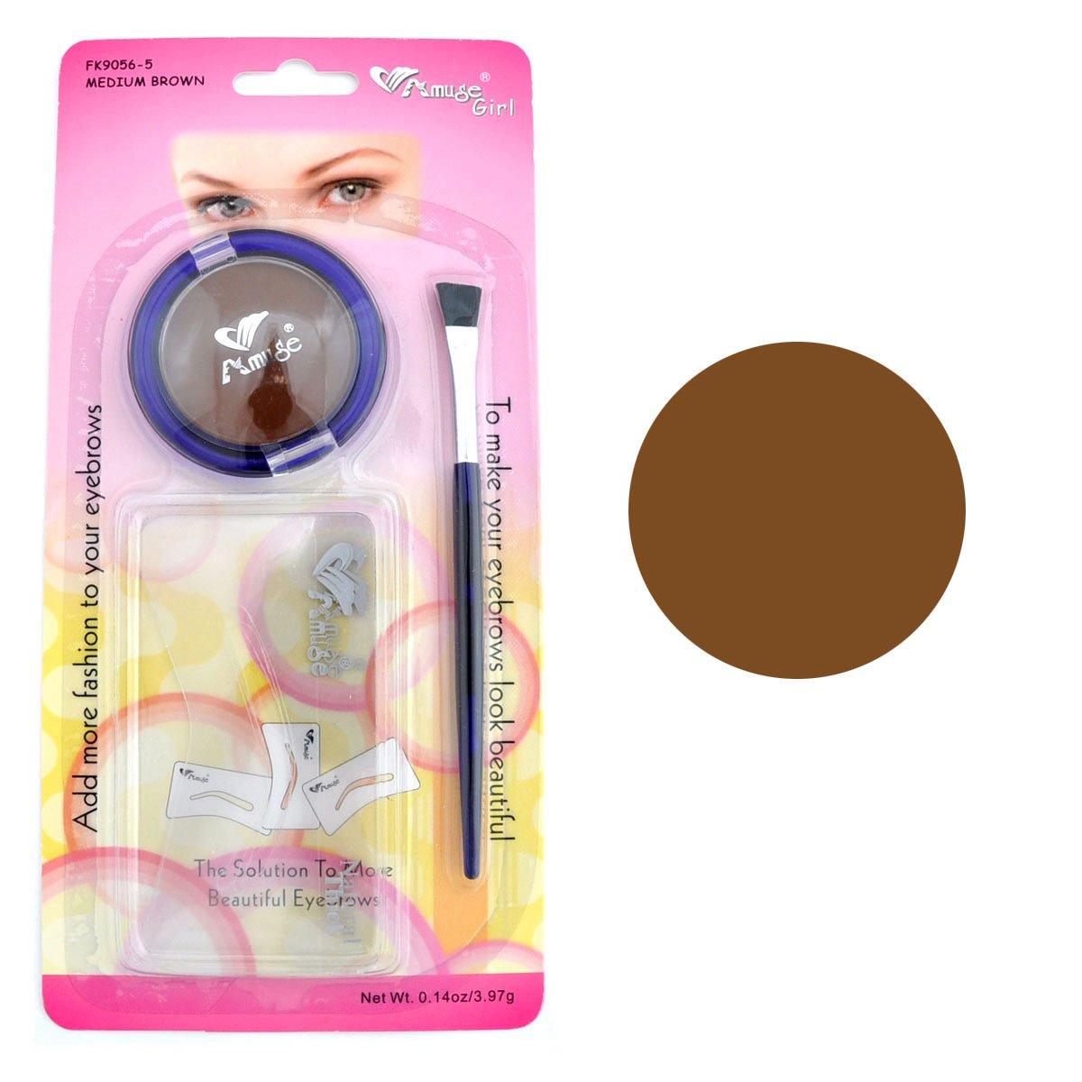 Amazon Amuse Eyebrow Stencil Makeup Kit Medium Brown Beauty