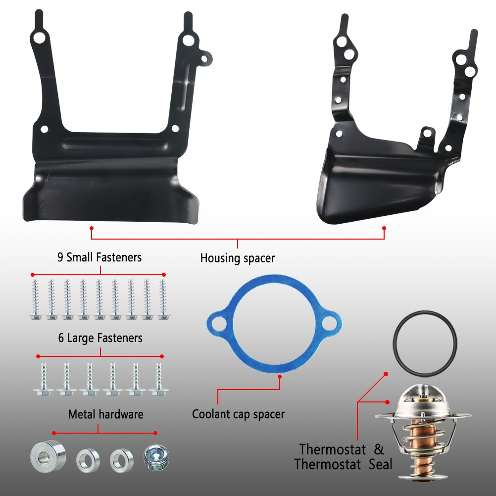 H/&G Bro Intake Manifold w// Gasket Kit Thermostat O-Rings For Ford Lincoln Mercury 4.6L F8AZ 9424-BC