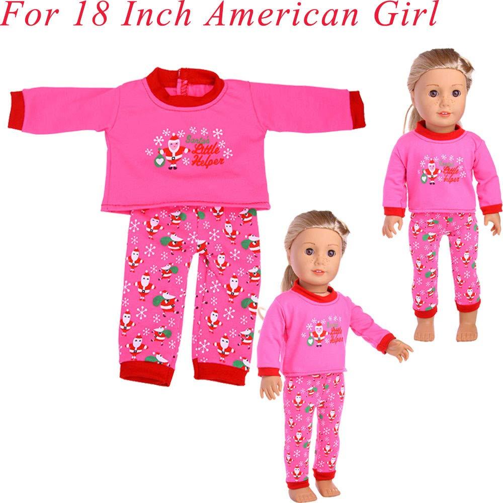 Malloom Weihnachtszusatzkleid spielt Puppenkleidung für 18-Zoll-amerikanische Mädchen-Puppe Malloom-Bekleidung