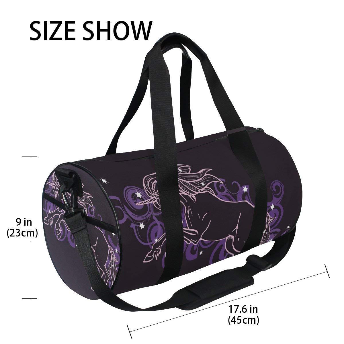 Gym Duffel Bag Unicorn Star Cloud Sports Lightweight Canvas Travel Luggage Bag by KMAND (Image #4)