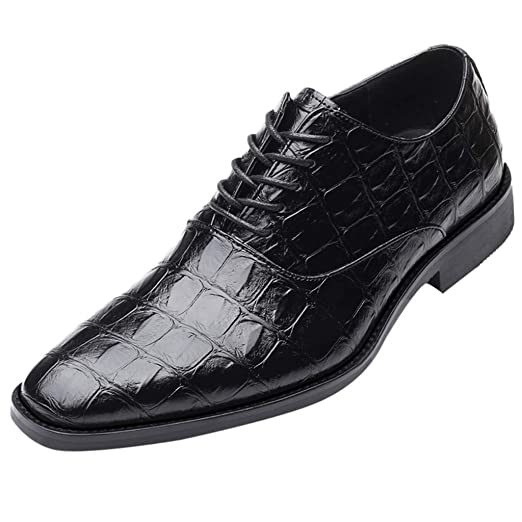6be3b16bdf965 Amazon.com: Corriee Mens Suit Shoes Pointed Lace-Up Leather Business ...