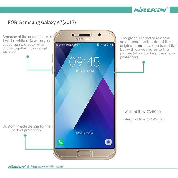 COVO 9H Dureza 0.33mm Delgado 2.5D Redondeada Borde Anti-Explosión Templado Vidrio Transparente Pantalla Protector para Samsung Galaxy A7(2017) ...
