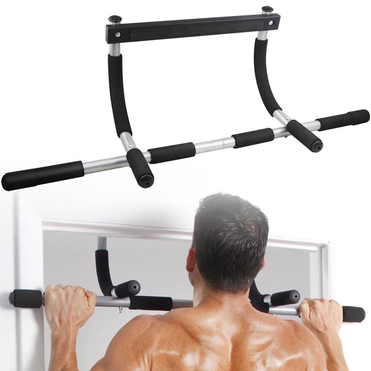 Amazon.com : Yaheetech Gym Doorway Chin Up Pull Up Bar Exercise Strength  Fitness Equipment : Sports U0026 Outdoors