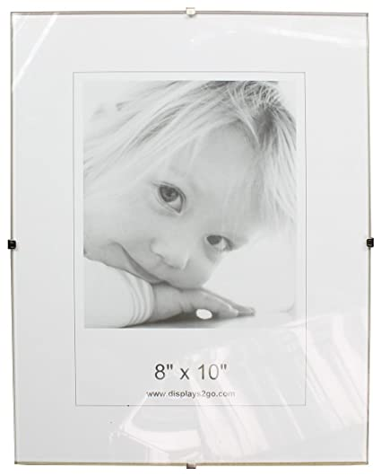 Amazoncom Displays2go 8 X 10 X 14 Inch Tempered Glass Frameless
