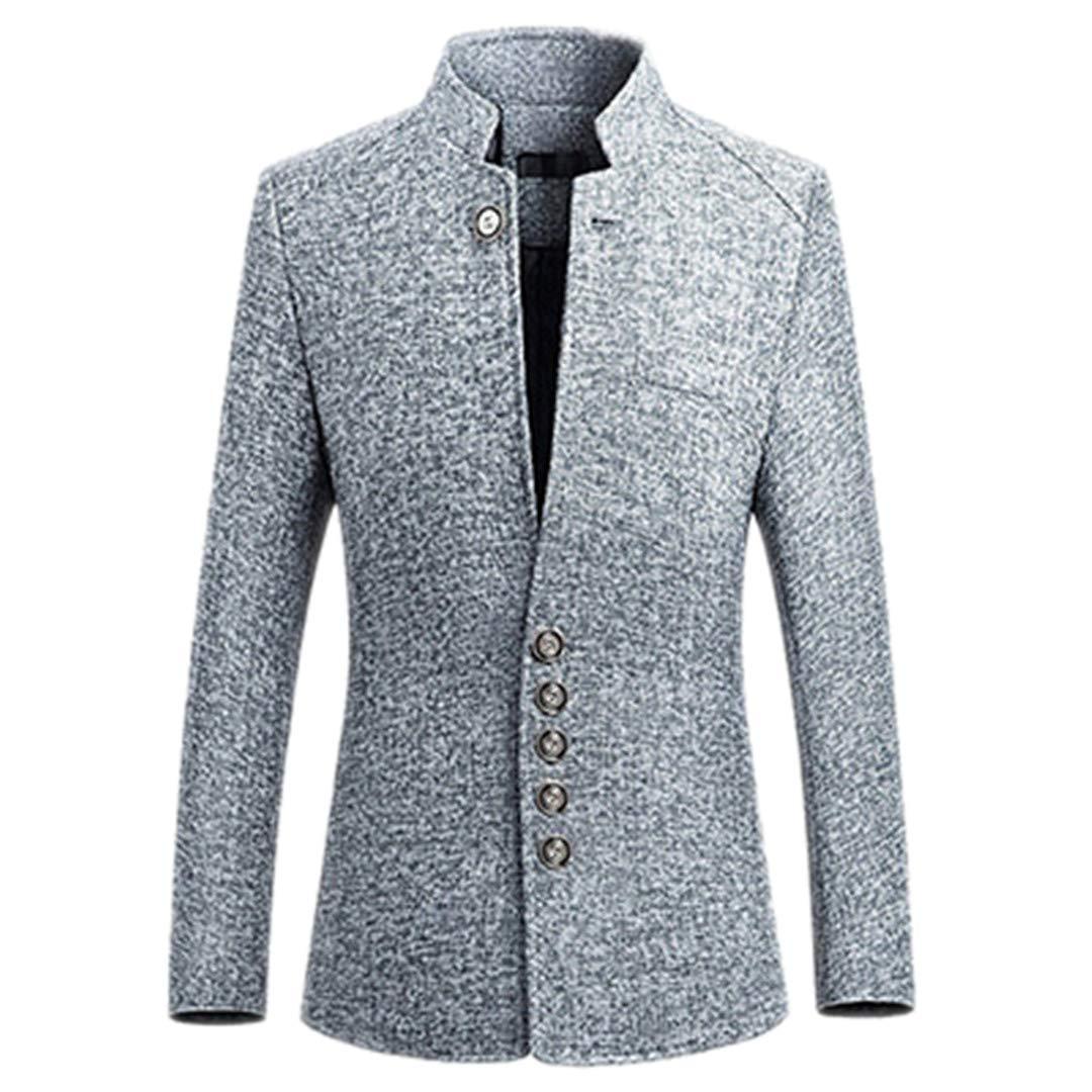 Chinesischen Stil Business Casual Stehkragen Männlich Blazer Slim Fit Herren Blazer Jacke Thineo