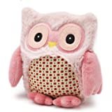 Bouillotte sèche Peluche Hibou Rose - Soframar - Made in england