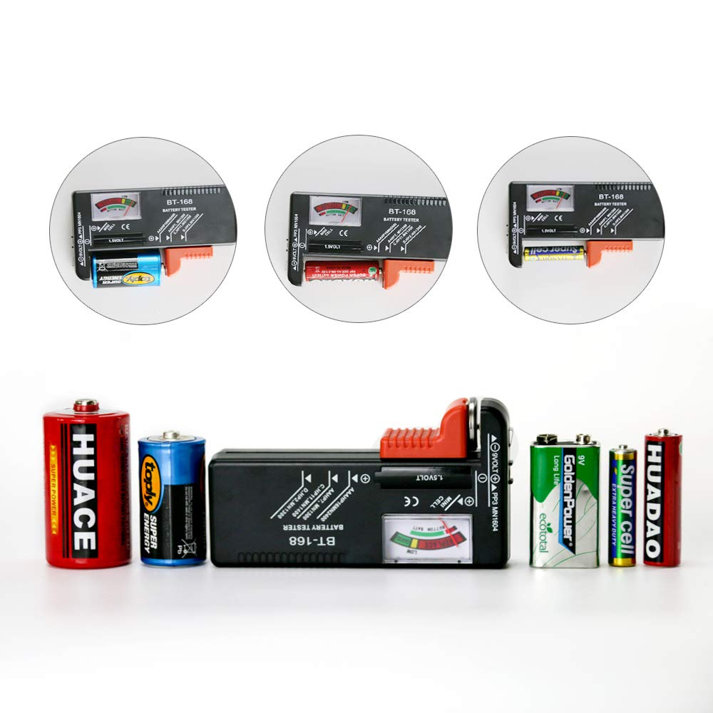 Battery Organizer Storage Rack with a Removable Battery Tester Holds (98) by HEYANG (Image #3)