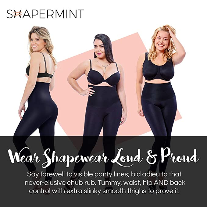 bec78df862411 Shapermint  Empetua High-Waisted Shaping Leggings Black  Amazon.ca   Clothing   Accessories