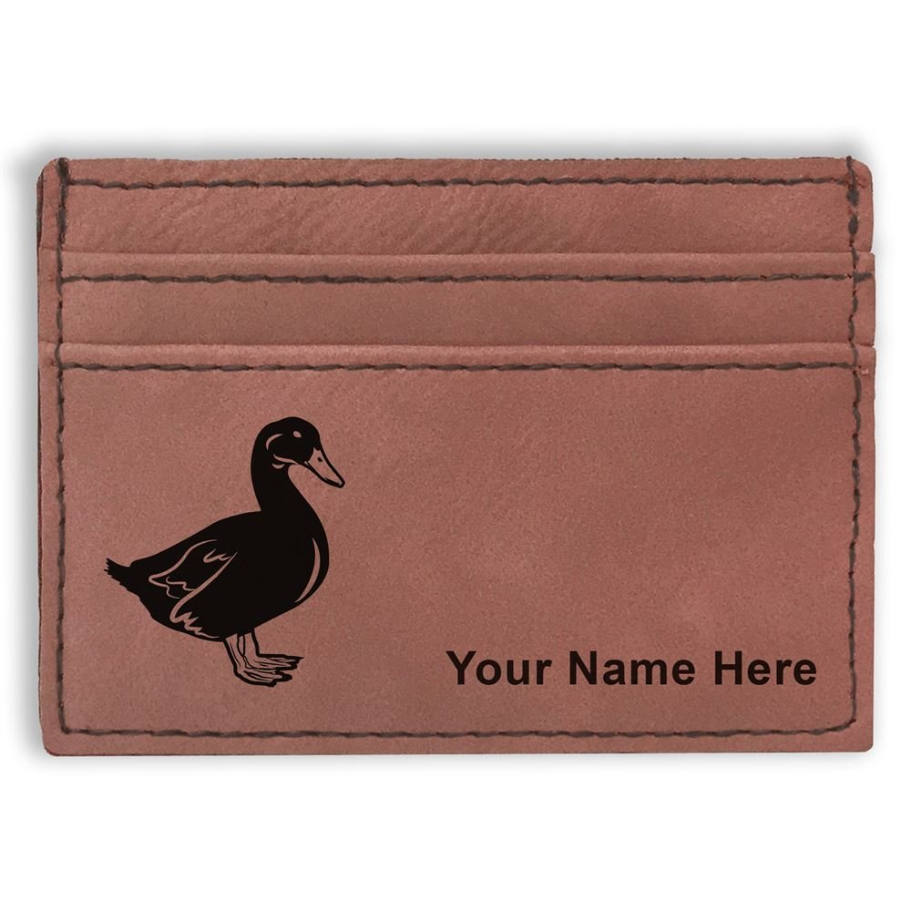 Personalized Engraving Included Money Clip Wallet Duck
