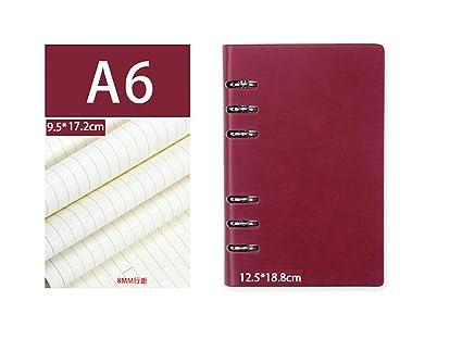 Cicilin - Cuaderno de espiral con tapa de piel sintética (6 ...