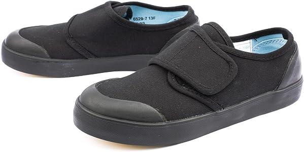 2d96c83511a Boy Junior Start-Rite Skip F Black Plimsolls Size 4.5  Amazon.co.uk ...