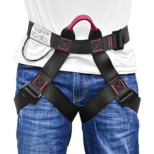 MelkTemn Climbing Harness, Rock Climbing Harness Protect Waist Safety Harness, Wider Half Body Harness for Mountaineering Fire Rescuing Rock Climbing Rappelling Tree Climbing (Climbing Harness.)