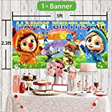 Dave And Ava Party Supplies Cake Topper Balloons
