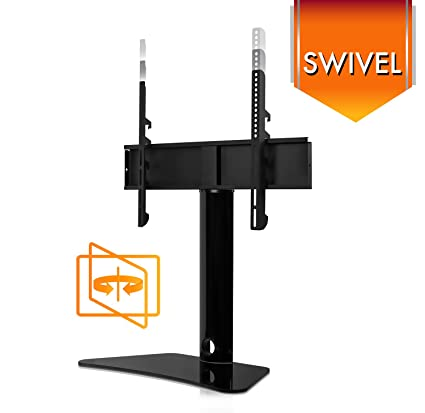 Exceptionnel Mount It! Universal Swivel TV Stand, Swiveling Height Adjustable Television  Tabletop Base Fits