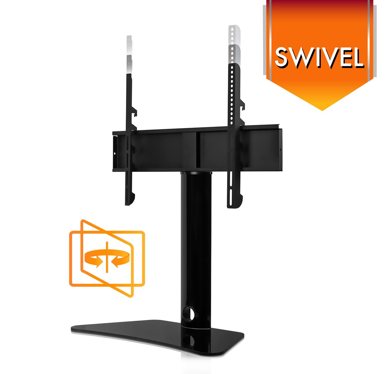 mount it universal swivel tv stand swiveling height. Black Bedroom Furniture Sets. Home Design Ideas