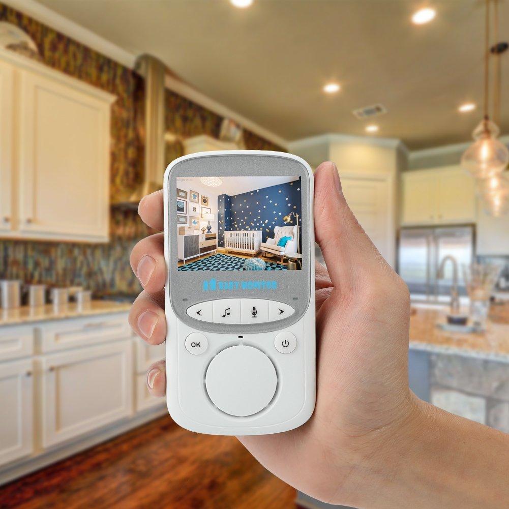 Looyat Baby Moniteur Moniteur LCD 2,4 Couleur 2,4 GHz Digital Vid/éo Babyphone S/écurit/é sans Fil pour B/éb/é Cam/éra CCTV Audio Double Voies Vision Nocturne