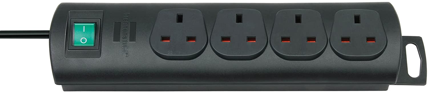 Brennenstuhl 1153303124 Primera-Line extension socket 4-way black 1, 5m 05VV-F 3G1, 25