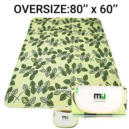 MIU COLOR Large Waterproof Outdoor Picnic Blanket, Sandproof and Waterproof Picnic Blanket Tote for Camping Hiking Grass Travelling (80