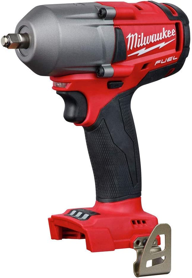 Milwaukee 2852-20 M18 Fuel 18-Volt Lithium-Ion Brushless Cordless Mid Torque 3 8 in. Impact Wrench with Friction Ring Tool-Only