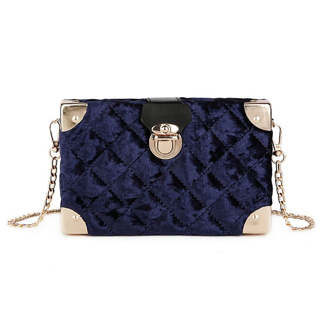 Tatkldisu Damen Umhängetaschen, Plüsch Umhängetasche, Paket Paket Paket Gold Velvet Lingge Muster (Farbe   Blau) B07KWLJRBK Schultertaschen Flagship-Store dbe97b
