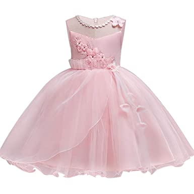 Amazon.com: Chitop Flower Girls Dresses Year - Clothes Party Baby ...