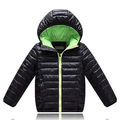 b956cd8b2 WENJHEN Kids Boys Girls Duck Down Winter Coat Hooded Children Warm ...