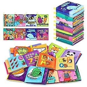 Baby Bath Books, Nontoxic Fabric Soft Baby Cloth