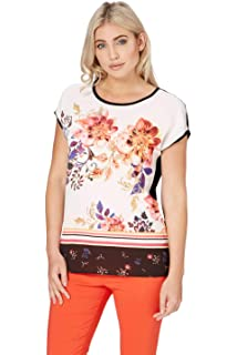 99e587c3ad Roman Originals Women Floral Print Jersey Top - Ladies Holiday Tropical  T-Shirt Weekend Going…