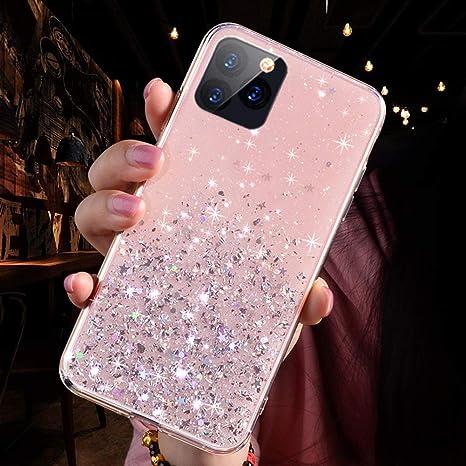 Custodia flip cover Iphone 11 Pro Max rosa a libro effetto