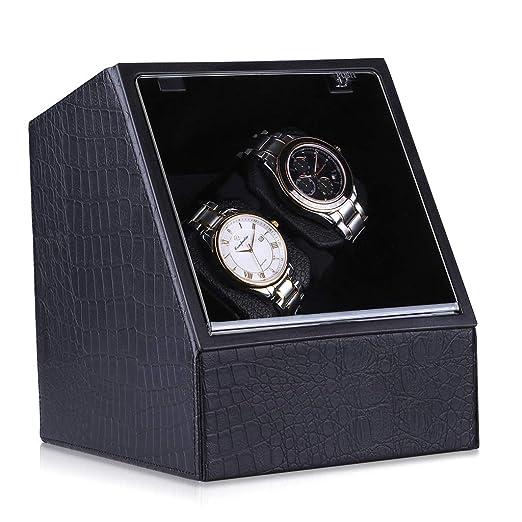 critiron Coffret Watch Winder de Reloj automático Clasico - Expositor de Madera con candado para Varios Relojes: Amazon.es: Relojes