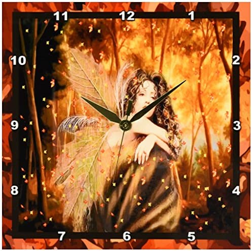 Eruner Rustic Floral Clock Clock, 12-inch Europe Country Style Romantic Sweet Roses Butterfly Shabby Chic Style Large Size Wall Clock Livingroom Bedroom Art Deco Love,C-62