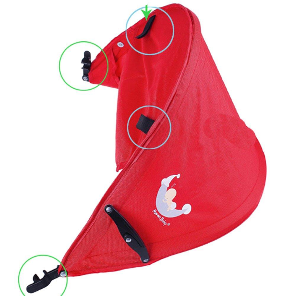 Baby Stroller Sunshade Maker Infant Stroller Canopy Cover Half [Light Blue] by Panda Superstore (Image #2)