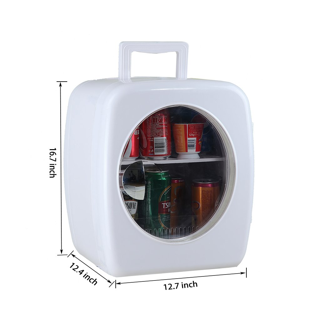 SMETA 12V Portable Compact Car Vehicle Refrigerator Personal Fridge Mini Can Beverage Milk Cooler Food Warmer for Travel Camping,15L,White by Generic (Image #7)