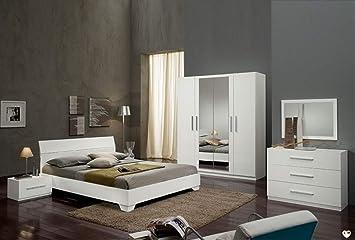 Gloria Laque Blanc Ensemble Chambre A Coucher