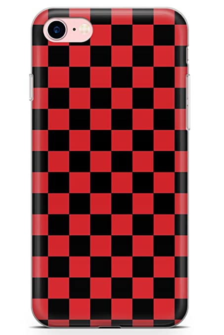 info for add5b cbcdc Case Warehouse iPhone 8 Case, Red Black Checkered Phone Case Ultra Thin  Lightweight Gel Silicon TPU Protective Cover | Pattern Checkerboard Plaid  ...