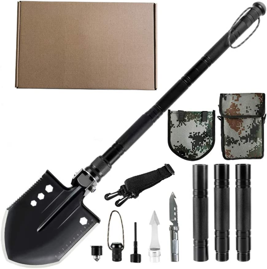 Military Portable Folding Shovel Survival Spade Outdoor For Camping Gift Q1L2
