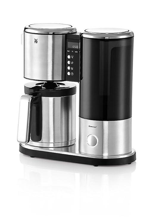 WMF Lineo Cafetera de filtro termo, 900 W, 1.25 litros, Acero Inoxidable, Cromargan mate, negro
