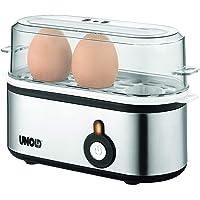 UNOLD 38610 Eierkoker Mini, roestvrij stalen behuizing, eierinzet met handvat voor 1 tot 3 eieren, signaalton…
