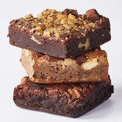 Gourmet Brownie Gift Box Sampler - 3 Brownies