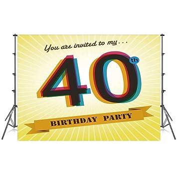 Decoraciones de 40 cumpleaños con diseño de telón de Fondo ...