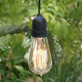 Fantado Single Socket Black Commercial Grade Outdoor Pendant Light