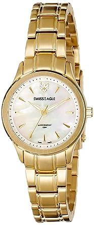 Swiss Eagle Analog White Dial Women's Watch-SE-6047-22