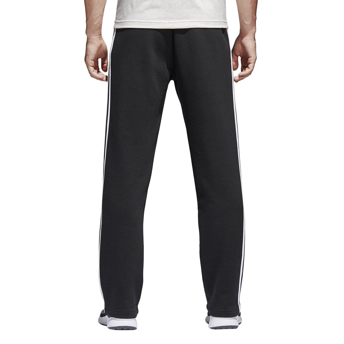 1bb1844ab74f5 Amazon.com   adidas Men s Essentials 3 Stripe Regular Fit Fleece Pants    Clothing