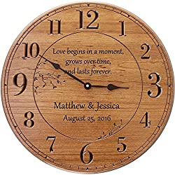 Personalized Wall Clock, 17 in. Wall Clock, Customized for Anniversary